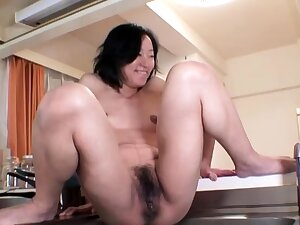 Hardcore squirt hard by an oiled and tied up Japanese chick