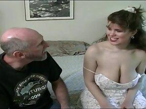 Tessa with a superannuated fart - big mammaries