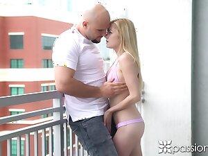Charming looking girlfriend with petite congress Chloe Foster is fucked wide of big undressed headed jock
