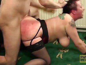 Fluffy UK Bitch Anally Punished by Masters Big Knob