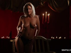 Fetching Kathy Anderson takes off the clothes added to teases with her body